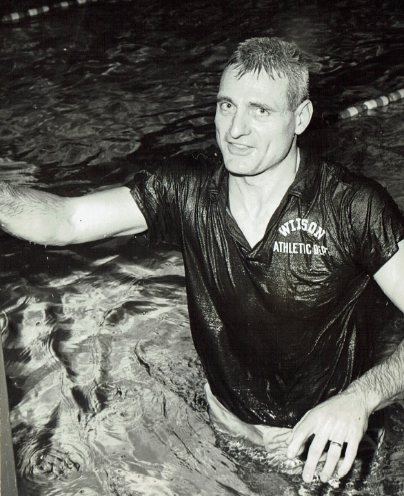 Dick Hannula, wet after another big win.